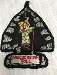 Vintage Amaquonsippi Trail Squaw Hanging Patch Gauze Back Very Rarenew Bsa