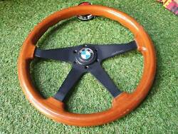 Rare Vintage Bwa Wood Steering Wheel With Jdm Bmw Horn Button E30 E21 316 520