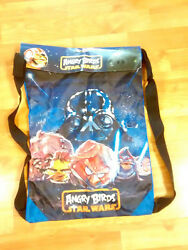 New Angry Birds Star Wars Galaxy Battle Drawstring Tote Clothes Shoes Backpack