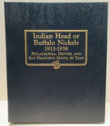 3 Page Whitman Classic Coin Album 9115 Buffalo Nickels 1913-1938