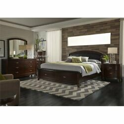 Liberty Furniture Avalon King Storage Bed Dresser And Mirror Ns