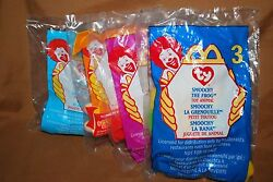 Lot Of 4 McDonalds Ty Toy Animals Factory Sealed NIP Free Shipping