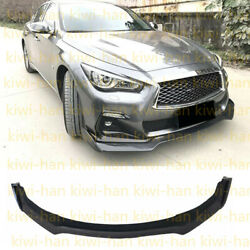 For Infiniti Q50 2018-2019 High Edition Carbon Fiber Front Spoiler Lip Assembly