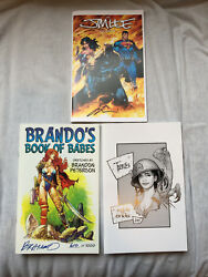 Jim Lee,travis Cherest And Brandon Peterson Sketchbooks All Signed And Rare Sdcc