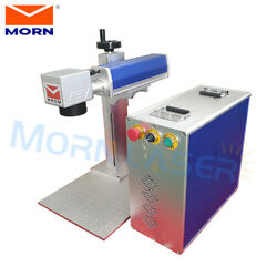 Mini Fiber Laser Marking Engraving Cut Machine 50W Raycus 200*200mm With CE FDA