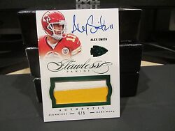 Panini Flawless Emerald On Card Autograph Jersey Chiefs Alex Smith 4/5 2015