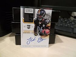 National Treasures Laundry Tag Rookie Autograph Steelers Le'veon Bell 2/5 2013
