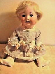 Antique Bisque Doll German 17 French Market Antique Germany Pm Home Figure Girl