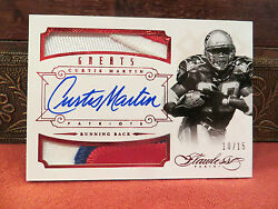 Panini Flawless Ruby Autograph Jersey Greats Patriots Curtis Martin 10/15 2014