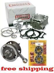 Yz250f 285cc Hot Rods Stroker Cylinder Works Big Bore Crankshaft Kit 2014-2015