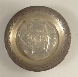 Antique Tribal Persian Sterling Silver Small Tray Hallmarked 340