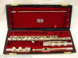 VERNE Q. POWELL HANDMADE STERLING SILVER FLUTE INLINE G LOW B/C FOOT JOINTS WOW