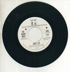 BEACH BOYS 45 RPM Promo Record  SURF'S UP  DON'T GO NEAR THE WATER  Rare! MINT!
