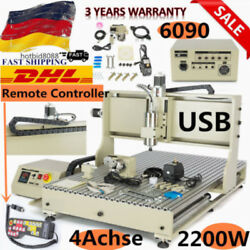 USB 2200W 4Axis 6090 Router Engraver Engraving Milling+Remote controller DHL