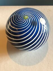 Saint Louis France 1971 Swirl Paperweight In Box