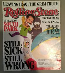 South Park Rolling Stone Magazine Issue 1022 3/22/2007 Nine Inch Nails R.e.m.
