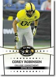 25-count Lot 2013 Corey Robinson Leaf Us Army All-american Rcs Notre Dame