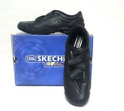 Skechers Bugaboos 21598 Black Genuine Leather Sports Shoes Size 7