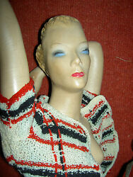 Rare Huge 29 Vintage Latexture Advertising Store Display Mannequin W/j'td. Arms