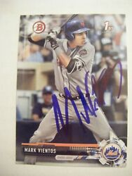Mark Vientos Signed Mets 2017 Bowman Draft Baseball Card Auto Autographed Bd-139