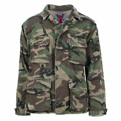 Nwt Adaption Vintage Camo Distressed And039drug Against Warsand039 Army Jacket M 1565