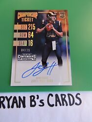 2016 Panini Contenders Jared Goff Championship Ticket Autograph 04/25 Ssp Wow