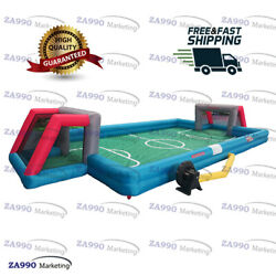 26x13ft Inflatable Football Field Sport Soccer Game For Kids With Air Blower