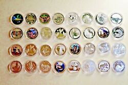Lot Of 77 Pcs From Different Countries Coins And Dates 1 Oz .9999 Silver Coin Bu