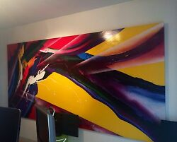 Price Reduction Very Large Original Acrylic Schallenberg Painting. Abstract