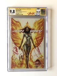 Jean Grey 1 Sdcc J. Scott Campbell Cover D Cgc Ss 9.8 2x Signed Stan Lee Htf