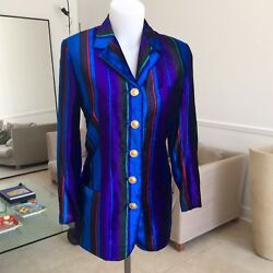 Gianni Versace Couture Striped Velvet Blazer Size It 38 From Fw 1993/94