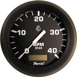 Faria 32834 Euro Tachometer With Hour Meter 4000 Rpm Td9102