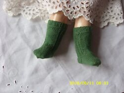 Antique Pattern Green Socks For Antique French Or German  Doll