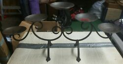 Wrought Iron 5 Tier Candle Holder Decorative Stand Antique Bronze 22l X 10h