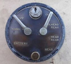 Vintage 1916 1920's Delco Ignition Light Switch Original 1129 Packard Buick 8
