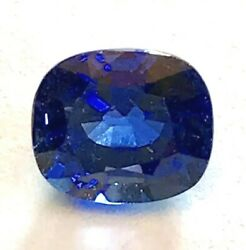 3.20 Ct Blue Sapphire Royal Blue Color Vs Clarity9 Mohs Hardness
