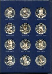 Franklin Mint Presidential 36 Silver Proof Coin Set. Uncirculated. Lot 423
