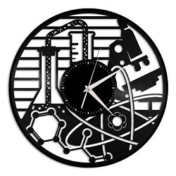 Chemistry Vinyl Wall Clock Record Unique Gift for Friends Home Room Decoration