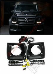W463 Carbon Headlights Covers Brabus Style With Oem Led Mercedes-benz G-class