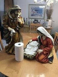 2 Large Vintage Statues of Joseph and Mary