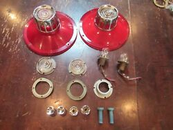63 64 Ford Galaxy Oem Fomoco Nos Back Up Tail Light Lens And Sockets Nos 427