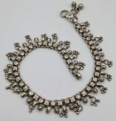 Silver Anklet Pair Indian Antique Jewelry Used Silver Anklet Pair