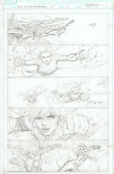 Life of CAPTAIN MARVEL #5 p 3 original art by CARLOS PACHECO Death of Mari-Ell