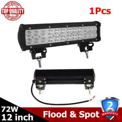 1x 12inch Cree Suv Led Work Light Bar Combo Driving Off-road Truck 12 Cars Pods
