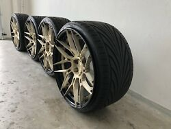 """Jaguar F-type XF XF XK ADV.1 HRE forgiato Style BC Forged 21"""" Forged Wheels"""