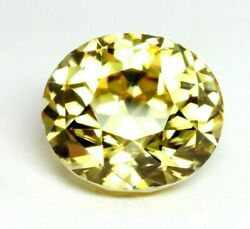 Yellow Zircon 21.05ct Oval 14.55x13.05x11.20mm Loose Natural Gemstone New Bright