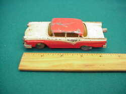 Schuco Vintage Micro Racer Key Wind Ford 1045 Car Red And White