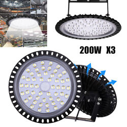 3X UFO LED High Bay Light Factory Warehouse Building Lighting Shed Fixture 200W