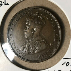 1913-l Australia 1 Penny King George V Coin Xf+/au Condition