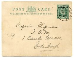 1902 ½d Postal Stationery Card Admiralty Official From Ullapool To Edinburgh